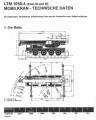 Rozměry autojeřáb Liebherr LTM 1050.