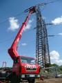 Využití vysokozdvižné auto plošiny v energetice. Pronájem plošiny firmě Rex Plzeň s. r. o. Firma Velčovský.